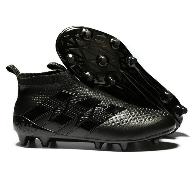 Scarpe da Calcio Nuovo 2016 adidas Ace16+ Purecontrol FGAG Tutto Nero