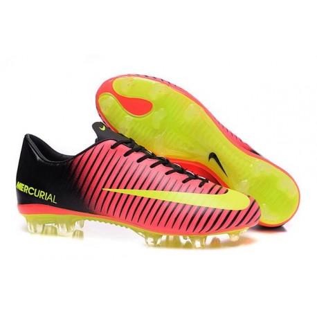 Scarpe Calcio Nuove Nike Mercurial Vapor XI FG ACC Rosso Giallo