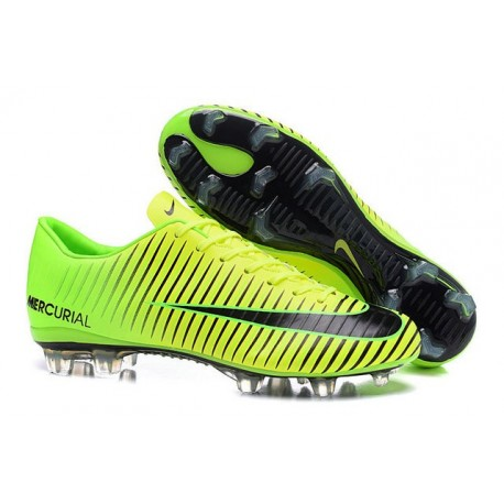 Scarpe Calcio Nuove Nike Mercurial Vapor XI FG ACC Verde Nero