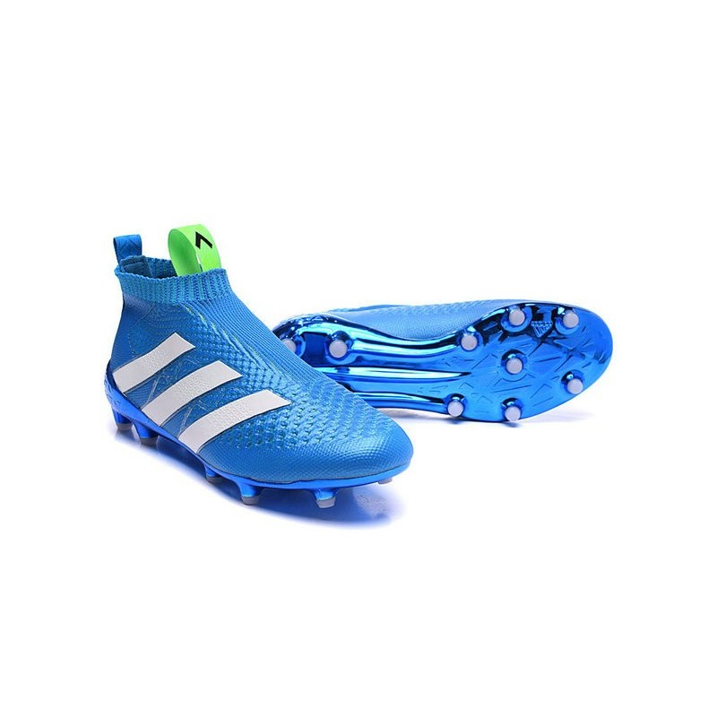 ... france scarpe da calcio nuovo 2016 adidas ace16 purecontrol fg ag blu  bianco 45eac 2aa56 ... 52dc4646e6d