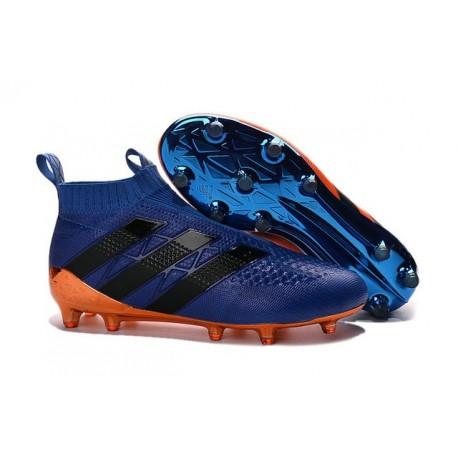 Scarpini da Calcetto Champions League 2016 adidas Ace16+ Purecontrol FG/AG Arancio Blu