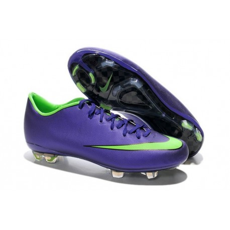 Mercurial Scarpe Vapor Nike 10 Fg Calcio Verde Da Viola DHE29WI