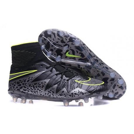 Nike 2016 Scarpe da Calcio Hypervenom Phantom II FG Nero Metallico