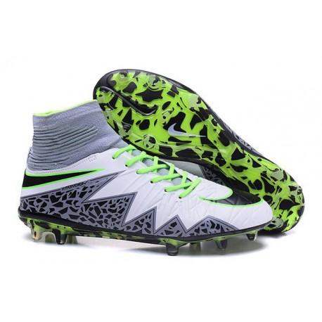 Nike 2016 Scarpe da Calcio Hypervenom Phantom II FG Bianco Nero Verde