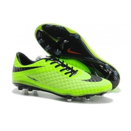 Scarpe Calcio Nike Hypervenom Phantom FG ACC Uomo Verde Nero 2bfc30eda24