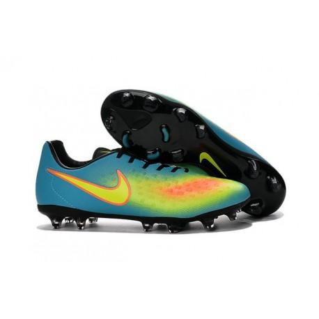 Scarpe da Calcetto Nuovo 2016 Nike Magista Opus II FG ACC Blu Giallo Arancio