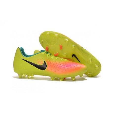 Scarpe da Calcetto Nuovo 2016 Nike Magista Opus II FG ACC Giallo Arancio Nero