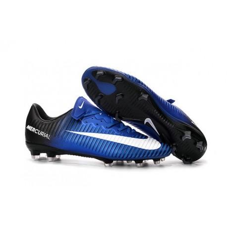 Scarpe Calcio Nuove Nike Mercurial Vapor XI FG ACC Blu Nero Bianco