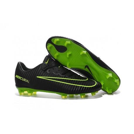 Nike Mercurial Vapor XI FG 2016 Scarpini da Calcio Nero Verde