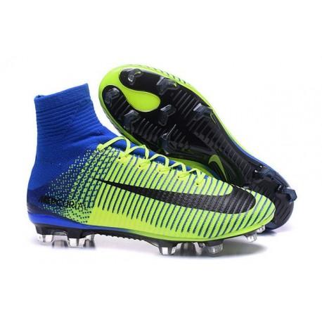 Nike Scarpa da Calcetto Nuove Mercurial Superfly 5 FG Verde Blu Nero