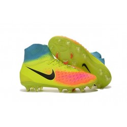 Scarpe da Calcio Nuovo 2016 Nike Magista Obra II FG Cremise Nero Agrume