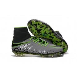 Scarpa da Calcio Nuovo Nike Hypervenom Phantom 2 FG ACC Platino Puro Nero Verde