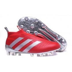 adidas Paul Pogba Scarpe da Calcio Ace16+ Purecontrol FG/AG Rosso Metallico