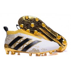 adidas Stellar Pack Scarpe da Calcio Ace16+ Purecontrol FG/AG Bianco Oro Nero