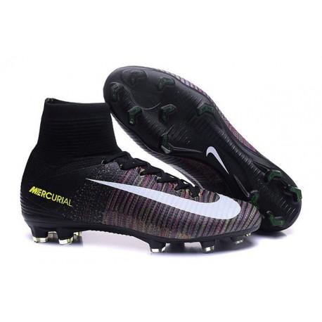 Scarpa da Calcio Nike 2016 Mercurial Superfly V FG ACC Nero Bianco Rosa