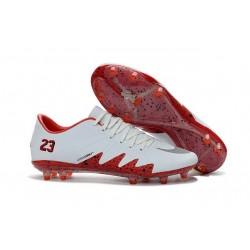 Calcio Scarpe Nike Hypervenom Phinish Neymar x Jordan FG Bianco Rosso