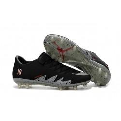 Calcio Scarpe Nike Hypervenom Phinish Neymar x Jordan FG Nero Metallico