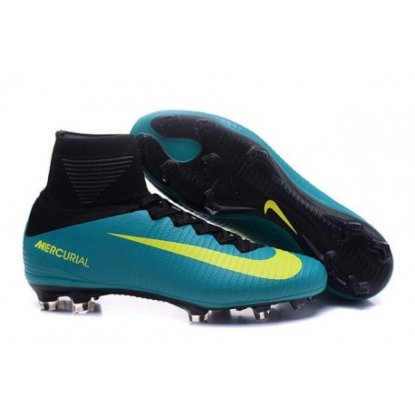 Nike Mercurial Superfly 5 FG Nuove Scarpe Calcio Blu Giallo