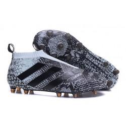 adidas Scarpe da Calcio Ace16+ Purecontrol FG/AG Nero Grigio