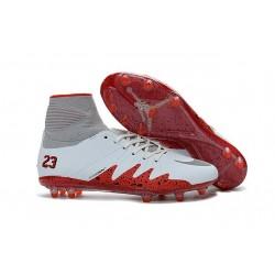 Scarpa da Calcio Nike Hypervenom Phantom II Neymar x Jordan NJR FG Bianco Rosso
