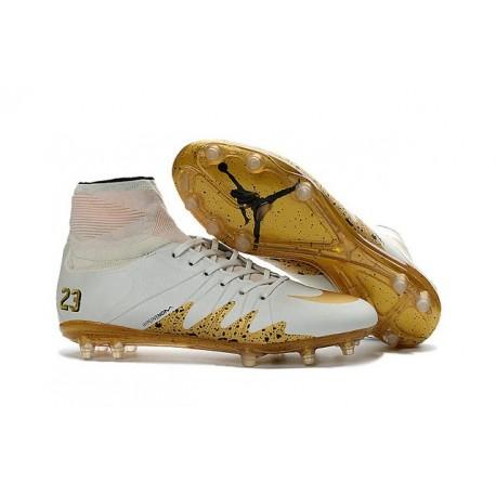 Scarpa da Calcio - Nike Hypervenom Phantom II Neymar x Jordan NJR FG Bianco Oro