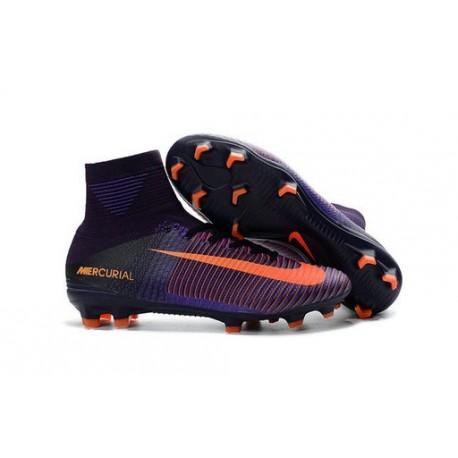 Nike Mercurial Superfly 5 FG Nuove Scarpe Calcio Viola Arancio
