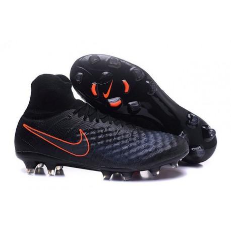 Scarpe da Calcio Nuovo Nike Magista Obra II FG Nero Arancio