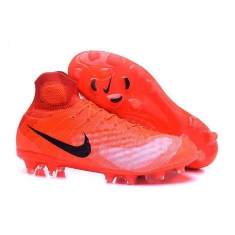 Scarpe da Calcio Nuovo Nike Magista Obra II FG Rosso Nero