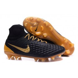 Scarpe da Calcio Nuovo Nike Magista Obra II FG Nero Oro
