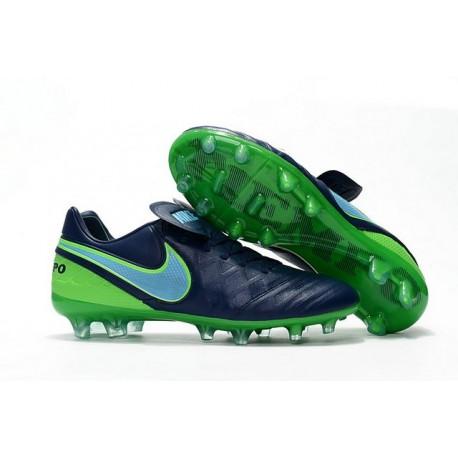 Scarpe da Calcio Nike Tiempo Legend Vi FG Nero Verde