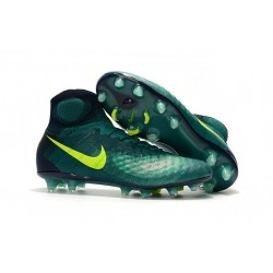 Nike Magista Obra 2 FG Scarpa da Calcio Uomo Verde Giallo