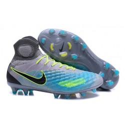 Nike Magista Obra 2 FG Scarpa da Calcio Uomo Grigio Blu Nero
