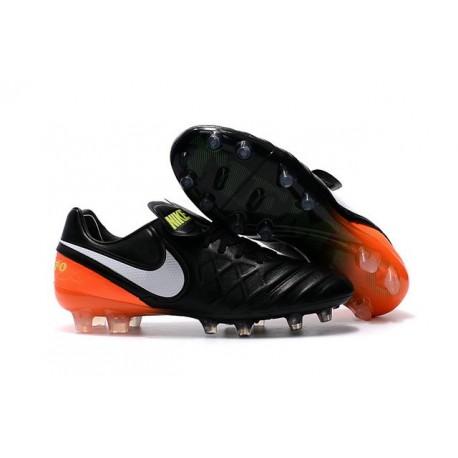 Nike Tiempo Legend 6 FG Scarpa da Calcio Uomo Nero Arancio Bianco