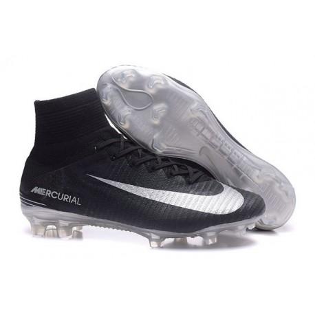 Nike Scarpa da Calcio Mercurial Superfly V FG ACC Uomo Nero Metallico