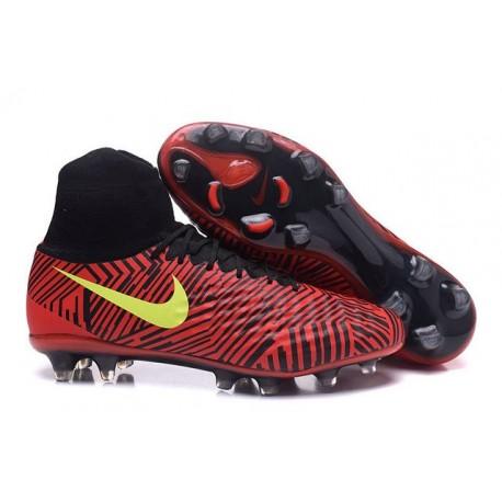 Scarpa da Calcio per Terreni duri Nike Magista Obra II FG Rosso Nero Giallo