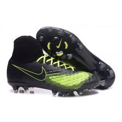 Scarpa da Calcio per Terreni duri Nike Magista Obra II FG Nero Giallo