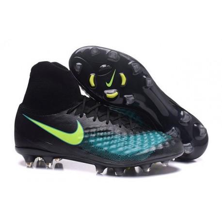 Scarpa da Calcio per Terreni duri Nike Magista Obra II FG Nero Blu