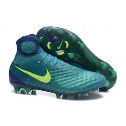 Scarpa da Calcio per Terreni duri Nike Magista Obra II FG Verde Giallo