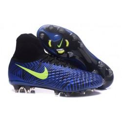 Scarpa da Calcio per Terreni duri Nike Magista Obra II FG Blu Giallo