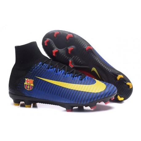 Nike Fútbol Club Barcelona Scarpa da Calcio Mercurial Superfly V FG ACC Uomo Blu Rosso