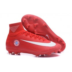 Nike Scarpa da Calcio Mercurial Superfly V FG ACC FC Bayern Münche Rosso