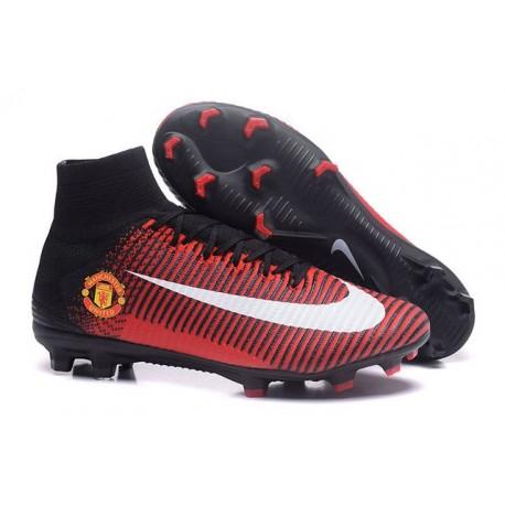 Nuovo Nike Mercurial Superfly 5 FG Scarpe da Calcio Manchester United FC Rosso