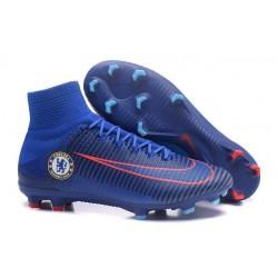 Nuovo Nike Mercurial Superfly 5 FG Scarpe da Calcio Chelsea FC Blu