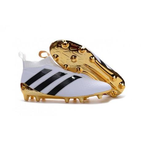 adidas Scarpe da Calcio Ace16+ Purecontrol FG/AG Bianco Oro Nero