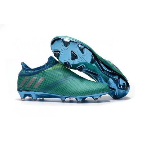 Scarpe da Calcio adidas Messi 16+ Pureagility FG Verde Metallico Blu