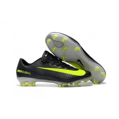 Nike Mercurial Vapor XI CR7 FG Scarpini da Calcio Nero Giallo