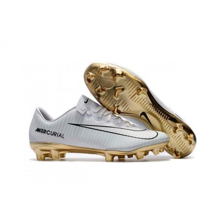 separation shoes 2af01 a0da0 Nike Mercurial Vapor Vitórias XI FG Scarpini da Calcio Bianco Oro