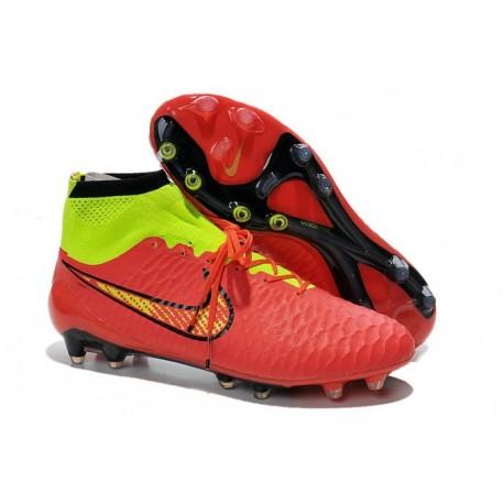 Scarpe da Calcio Uomo Nike Magista Obra FG Rosso Oro Volt