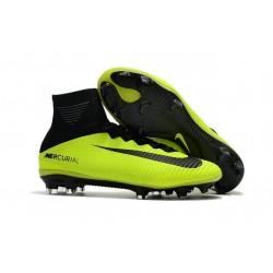 Nuovo Nike Mercurial Superfly 5 FG Scarpe da Calcio Giallo Nero
