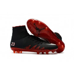 Nike HyperVenom Phantom II FG - scarpe da calcio terreni compatti -Neymar X Jordan Nero Rosso